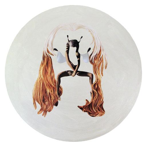 Anna Staffel - Allerleirauh 2015,2015 Acryl, Papier auf Leinwand 60 cm