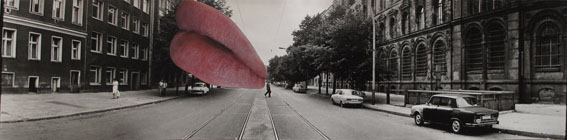 Anna Staffel - Hans Martin Sewcz - Intervention - Oranienburger Strasse Postfuhramt Berlin (Lips) -