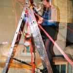 Anna Staffel Performance - Rauminstallation - Götterdämmerung Foto: Hans Martin Sewcz