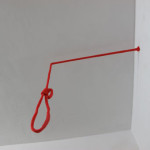 Installation Intervention with a red rope