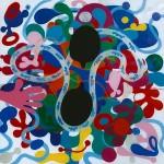 Anna Staffel - Universen 100 x 100 cm AL