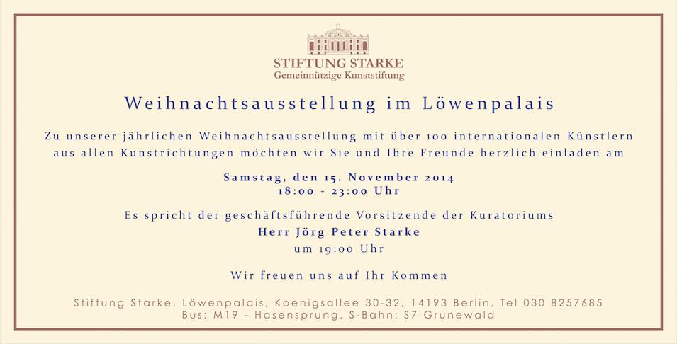 Weihnachtsausstellung im Löwenpalais - Stiftung Starke - Berlin Grunewald