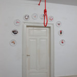 Installation Intervention with a red rope, Pflaster 1-10