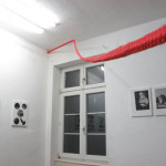 Installation Intervention with a red rope, Tatorte III + IV, Was geschah mit der Tänzerin?