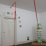 Installation Bergungsarbeit, Intervention with a red rope, Pflaster 1-10