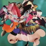 """""""Sparpaket"""" 2016  Foto auf Alu-Dibond aus der Serie """"Zufälligkeitscollage"""" 40 x 40 cm"""
